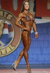 Oksana Grishina all'Arnold Classic 2014 : Fitness International