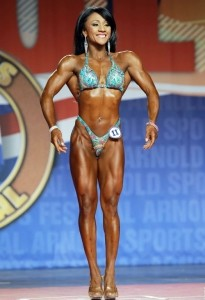 Tanji Johnson all'Arnold Classic 2014 : Fitness International